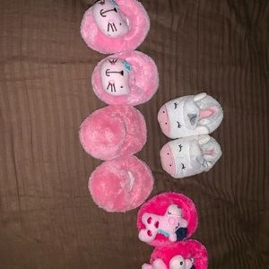 New born slippers (4) $3 each $10 for all